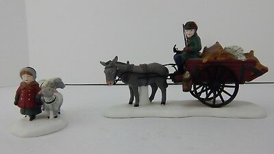 Dept 56 Dickens Village Bringing Fleeces To The Mill #58190 Never Displayed