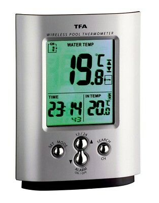 Wireless Swimming Pool Thermometer TFA 30.3033 Silver Pond