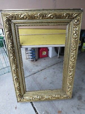 Vtg Large Wood & Plaster Picture Frame Gold Tone 41 X 28 Museum Quality