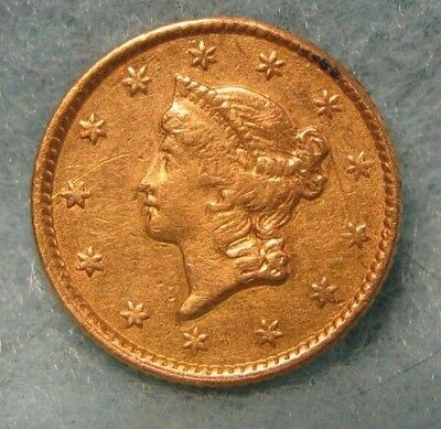 1853 Liberty Head $1 GOLD Coin XF Details * US Coin