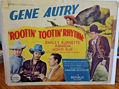 Gene Autry Rootin Tootin Rhythm 1937 Republic Pictures Lobby Card 63