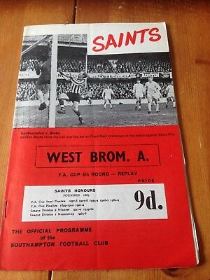 Southampton V West Bromwich Albion - Fac 4Th Rd Replay - 21/2/1968