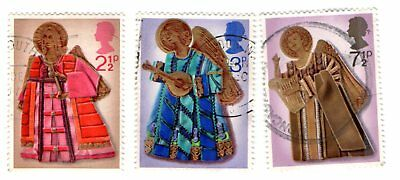 GB Stamps SG913-915 1972 Christmas. Multicoloured Complete Used set