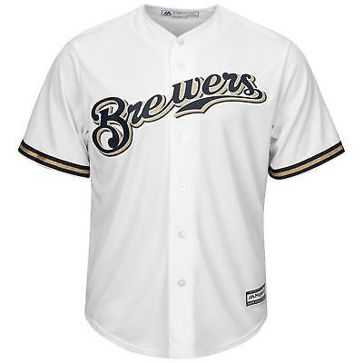 MLB Baseball Trikot Milwaukee Brewers weiß Home Cool base Majestic Jersey