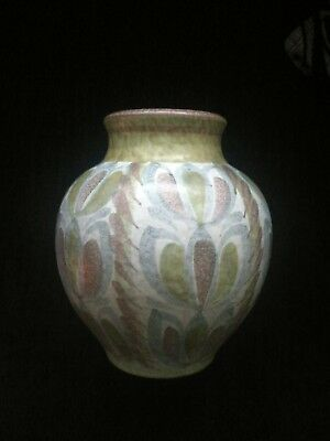 Bourne Denby Vintage Studio Pottery Vase Glyn Colledge. 9 Inches in Height.