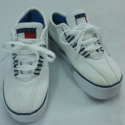 feb060bbbe3f Tommy Hilfiger Shoes Deck Boat 90s style Flag Canvas Lace Sneaker Sport  Skate