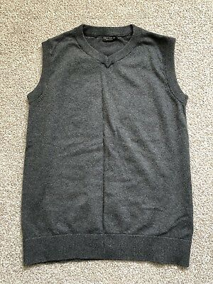 Boys Next Grey Knitted Tank Top, age 9-10, VCG