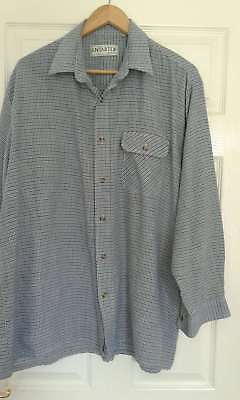 "Vintage Antartex Country Shirt - Blue/grey Check - Chest 50"" Xxl? - Vgc"