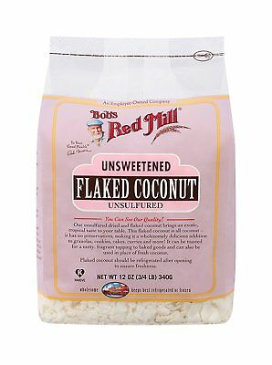 Bob's Red Mill Flaked Dried Coconut Unsweetened 12 oz, 8 packages (6 lbs total)