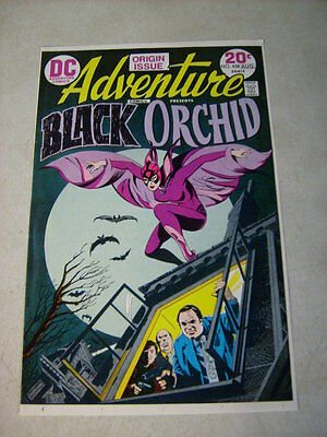 ADVENTURE #429 COVER ART approval cover proof 1ST BLACK ORCHID, 1970'S