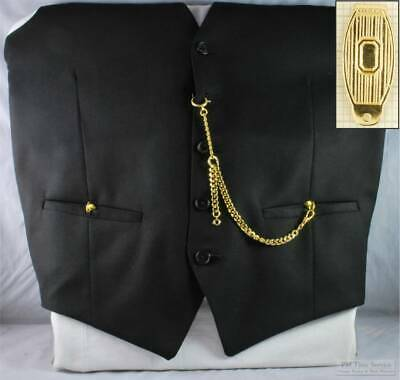 Albert pocket watch chain w/ solid-style belt clip; various finish options
