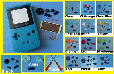 GBC SHELL & SCREEN Teal Nintendo Game Boy Color Custom ~ PICK A COLOR BUTTONS