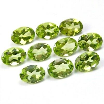 Wholesale Lot 7x5mm Oval Facet Cut Natural Peridot Loose Calibrated Gemstone