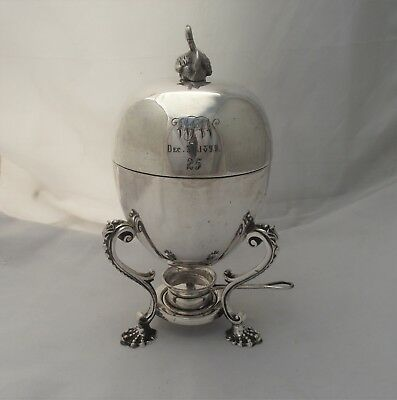 Large Silver Plated Egg Coddler 30Th December 1899 Mappin & Webb