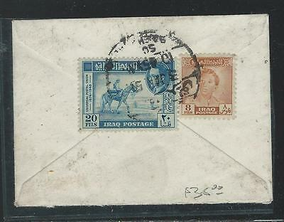Iraq  (P2209B) 1950 Tiny Cover 20F Horse+King 8F  Cover To Paris