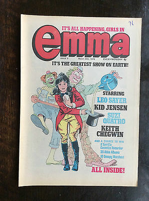 Emma Comic.  25 March 1978.  No. 5.  Vfn+ Condition.  (1