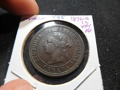 X95 Canada 1876-H Large Cent XF/AU
