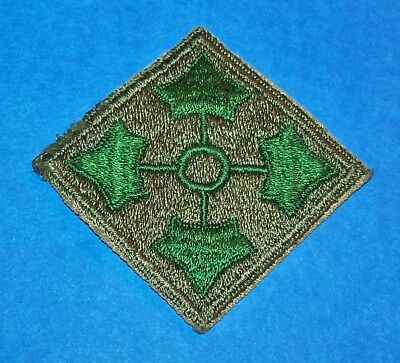 ORIGINAL CUT-EDGE WW2 4th INFANTRY DIVISION PATCH