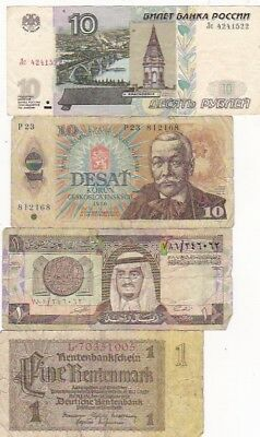 7 1920-1997 Circulated Notes From All Over