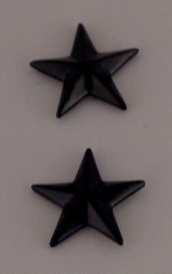 "Police Chief/Deputy 1 star 5/8"" SUBDUED BLACK Pair Collar Pins Rank Insignia USA"