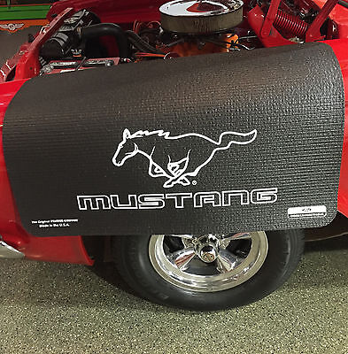 Ford Mustang Pony Logo Fender Gripper Black Protective Fender Cover FG2105