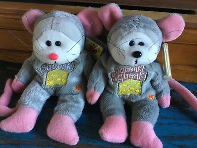 Beanie kids squeak the mouse bears MUTATION & ordinary in ex/con tags & protects