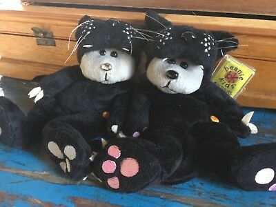 Beanie kids jet the panther x 2 bears MUTATION & ordinary tag & protectors 2006