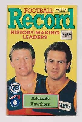 1991  VFL Football Record -  Adelaide V Hawthorn - Crows first AFL game
