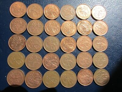Lot Of 30 Irish Decimal Two Pence Coins In Very Fine Condition ,from Circulation