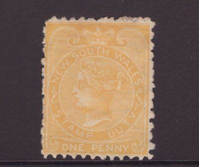 New South Wales 1d stamp duty QV see scans x 2