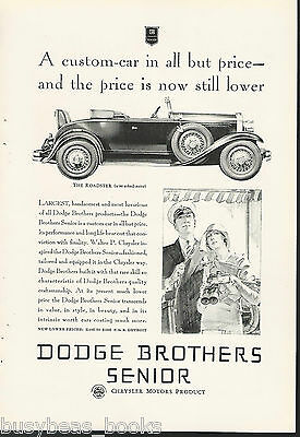 1929 Dodge Brothers advertisement, DODGE Senior Roadster 2-door with rumble seat