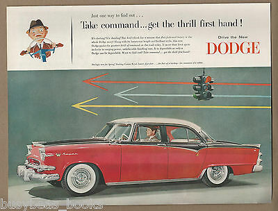 1955 DODGE LANCER CUSTOM ROYAL advertisement, three-tone Dodge sedan