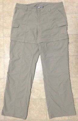 THE NORTH FACE - Ladies Tan Convertible Outdoors Pants/Shorts  - Us8 / Aus 12