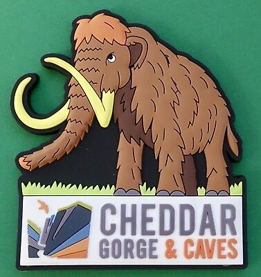 Souvenir Fridge Magnet Cheddar Gorge And Caves Woolly Mammoth Somerset England