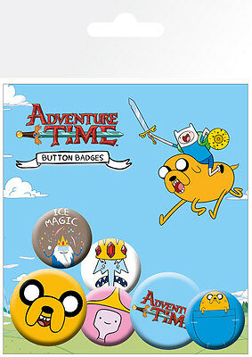 Button Badge 6er Pack ADVENTURE TIME - Jake 2x 32mm & 4x 25mm NEU BP0456