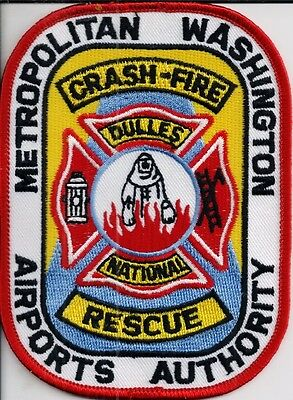 Ärmelabzeichen Washington Airport Dulles National Crash Fire Rescue