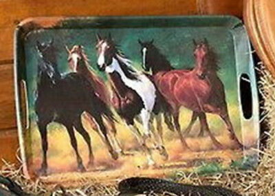 Horse Kitchen Running Free Large Melamine Snack Serving Tray CLEARANCE orig17.99
