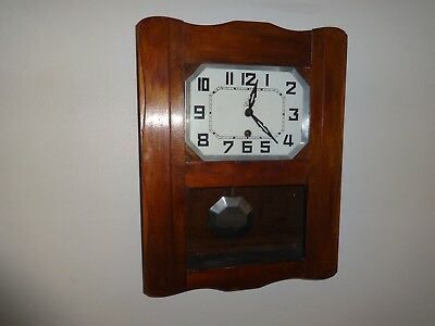 Art Deco 1930s  French Wall Clock by DAM, in full working order with key