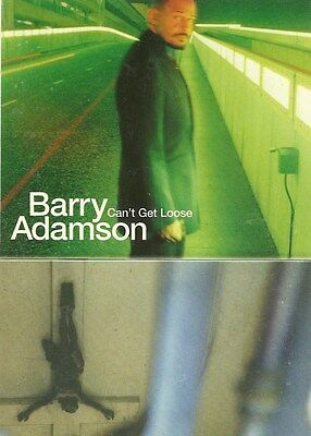 10.5cm by 15cm Promotional Sticker Postcard  BARRY ADAMSON  Can't Get Loose MINT