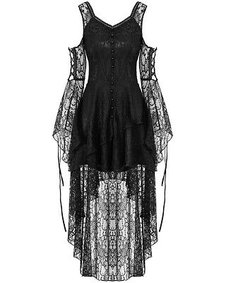 Dark In Love Gothic Lace Dress Black Steampunk Witch VTG Victorian Vampire