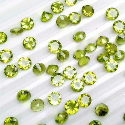 Wholesale Lot of 6mm Round Facet Cut Natural Peridot Loose Calibrated Gemstone