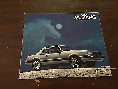 1979 Ford Mustang Car Auto Dealership Advertising Brochure