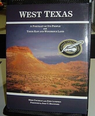 WEST TEXAS It's People and Land COCHRAN Lumpkin SIGNED HBDJ History Genealogy
