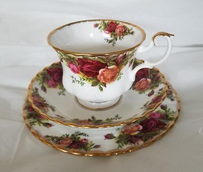 Royal Albert Old Country Roses Plate, Cup and Saucer Trio