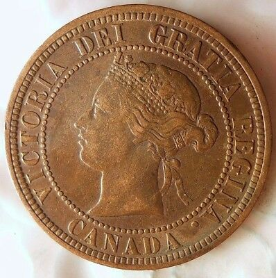 1876 H CANADA CENT - GREAT COLOR/GRADE -  Excellent Scarce Date Coin - Lot #624