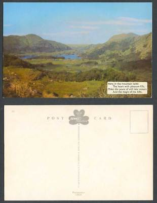 Ireland Early Colour Postcard Mountain Lands Peace Still Lake Waters Magic Hills