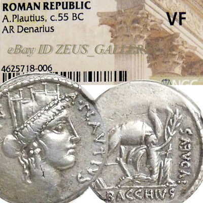 CYBELE,Camel Aristobulus II submits to Pompey Ancient Roman Silver Denarius coin
