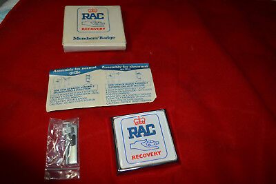 Brand new boxed RAC royal Automobile Club authentic recovery badge for car grill