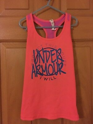 Girls euc Under Armour Heat Gear Tank Top Size Youth Small