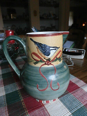 lenox - winter greetings everyday pitcher - new- mint